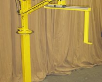 Pedestal mount inline torque arm - Linear slide; 7 ft reach; 48 in vertical travel; Parking brake; 300 ft-lbs torque capacity
